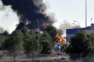 Accidente de un F16 griego en Albacete.