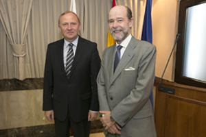 Pedro Argüelles y su homólogo polaco