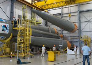 Preparando el Soyuz