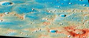 Una de las últimas imágenes de mercurio enviadas por Messenger.