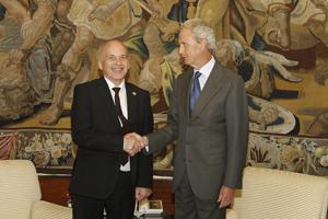 Los ministros de Defensa de Suiza y España (mde.es)