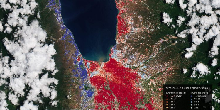 Imagen vía satélite de Palau