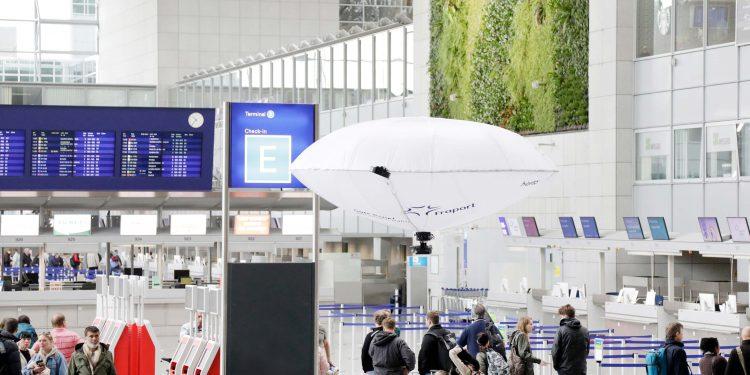 Prueban un vehículo aéreo híbrido en las terminales del aeropuerto de Francfort como sistema de seguridad