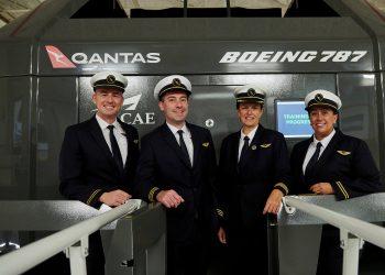 Simulacro vuelo Qantas