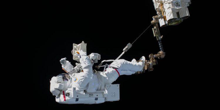 Astronautas en la ISS