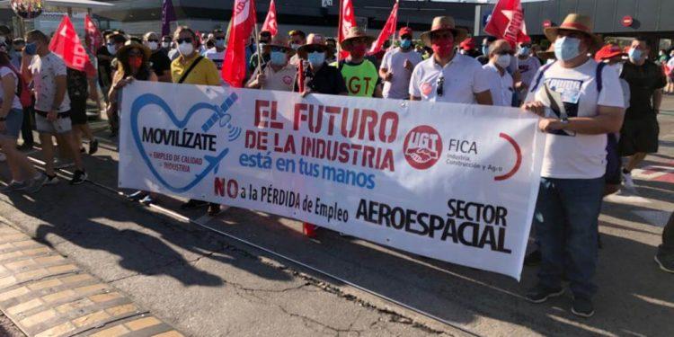 Manifestación de Airbus