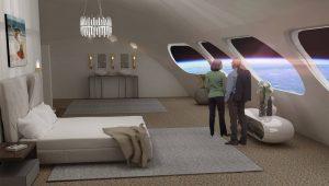 Interior del hotel espacial