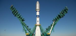 Soyuz con el satélite de Sateliot